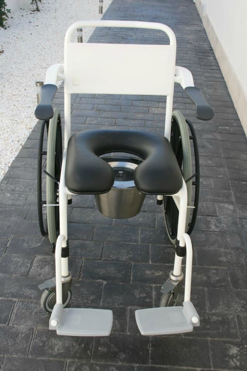 Self-propelling Commode/shower chair soft seat